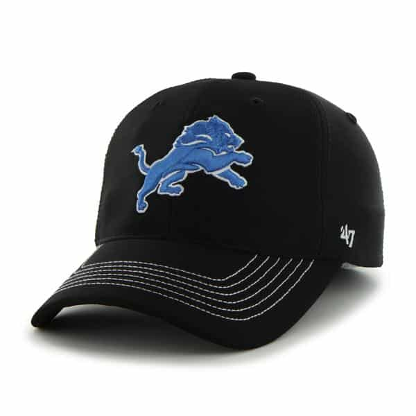 Detroit Lions Game Time Closer Black 47 Brand Stretch Fit Hat