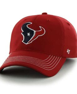 Houston Texans Game Time Closer Red 47 Brand Stretch Fit Hat
