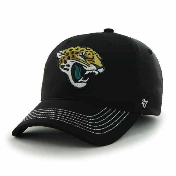 Jacksonville Jaguars Game Time Closer Black 47 Brand Stretch Fit Hat
