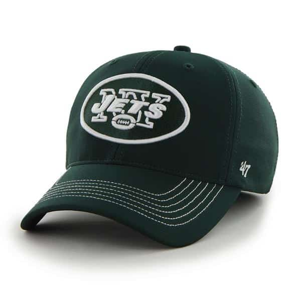 New York Jets Game Time Closer Dark Green 47 Brand Stretch Fit Hat