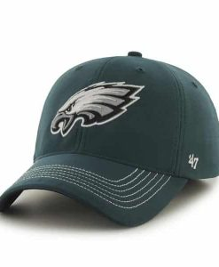 Philadelphia Eagles Game Time Closer Pacific Green 47 Brand Stretch Fit Hat