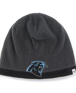 Carolina Panthers Grid Fleece Beanie Charcoal 47 Brand YOUTH Hat