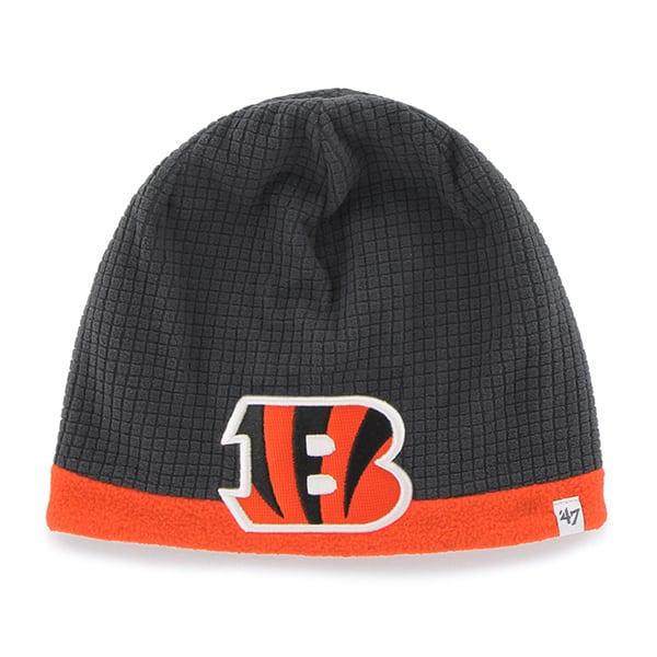 Cincinnati Bengals Grid Fleece Beanie Charcoal 47 Brand YOUTH Hat