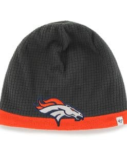 Denver Broncos Grid Fleece Beanie Charcoal 47 Brand YOUTH Hat