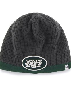 New York Jets Grid Fleece Beanie Charcoal 47 Brand YOUTH Hat