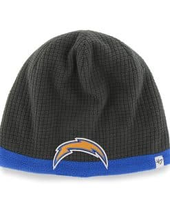 San Diego Chargers Grid Fleece Beanie Charcoal 47 Brand YOUTH Hat