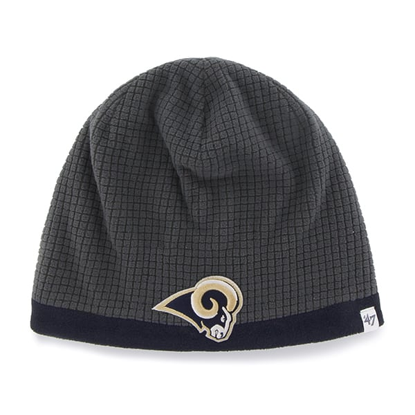 Los Angeles Rams Grid Fleece Beanie Charcoal 47 Brand YOUTH Hat