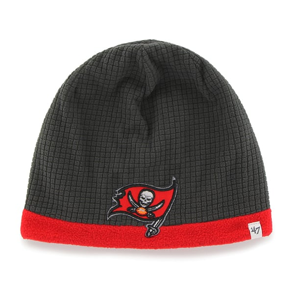 Tampa Bay Buccaneers Grid Fleece Beanie Charcoal 47 Brand YOUTH Hat