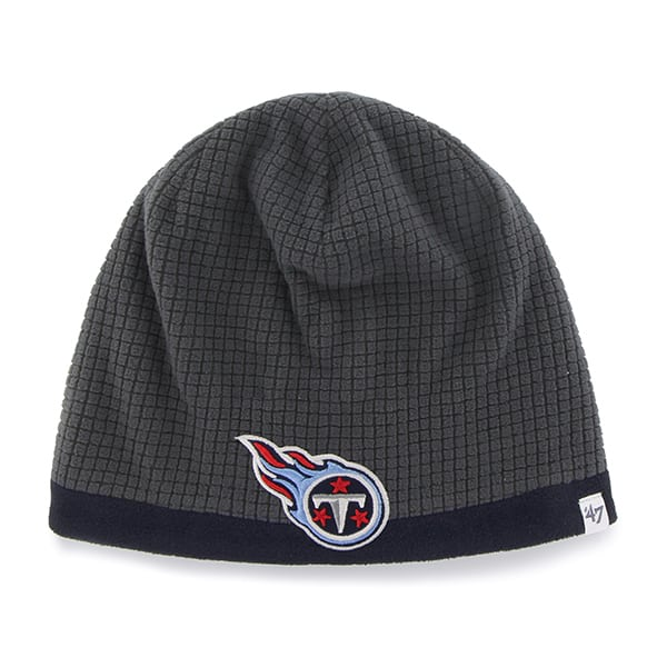 Tennessee Titans Grid Fleece Beanie Charcoal 47 Brand YOUTH Hat