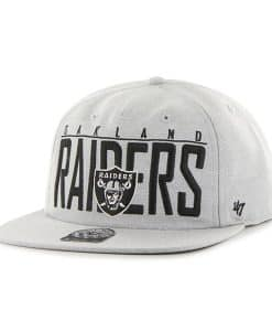 Oakland Raiders Highway Captain Rf Gray 47 Brand Adjustable Hat