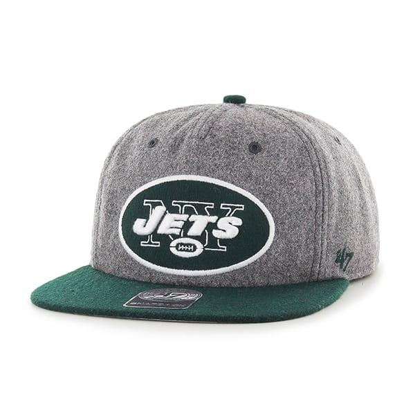 New York Jets Hempstead Captain Rf Gray 47 Brand Adjustable Hat