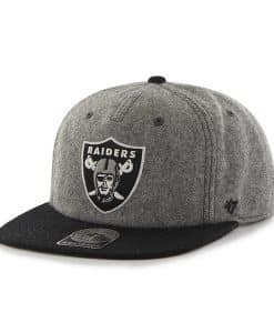 Oakland Raiders Hempstead Captain Rf Gray 47 Brand Adjustable Hat