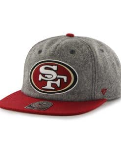San Francisco 49ers Hempstead Captain Rf Gray 47 Brand Adjustable Hat