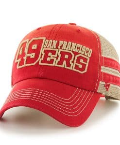 San Francisco 49ers Huron Clean Up Red 47 Brand Adjustable Hat