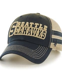 Seattle Seahawks Huron Clean Up Navy 47 Brand Adjustable Hat