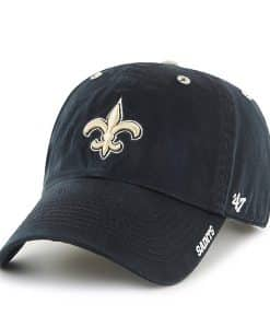 New Orleans Saints 47 Brand Black Ice Clean Up Adjustable Hat