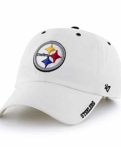 Pittsburgh Steelers Ice White 47 Brand Adjustable Hat