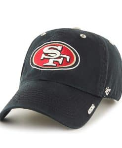 San Francisco 49ers Ice Black 47 Brand Adjustable Hat