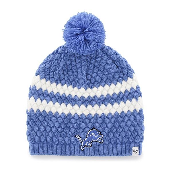 Detroit Lions Kendall Beanie Blue Raz 47 Brand Womens Hat