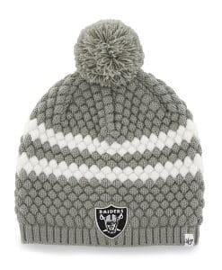 Oakland Raiders Kendall Beanie Steel Grey 47 Brand Womens Hat