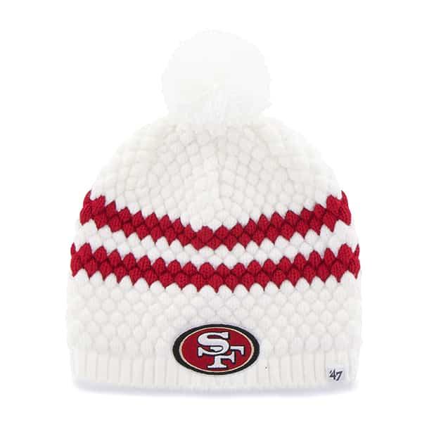 San Francisco 49ers Kendall Beanie White 47 Brand Womens Hat
