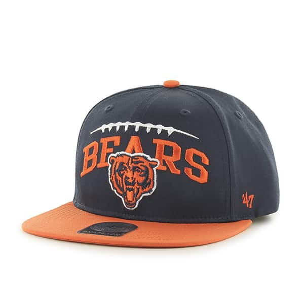 Chicago Bears Laces Out Captain Navy 47 Brand KID Hat