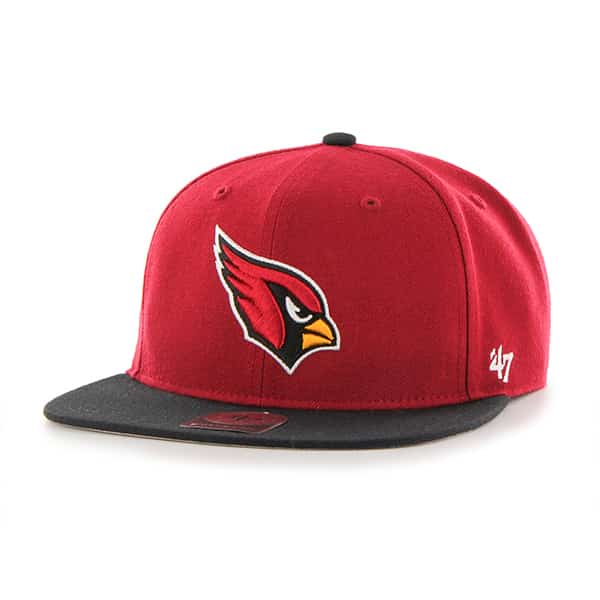 Arizona Cardinals Lil Shot Two Tone Captain Dark Red 47 Brand KID Hat
