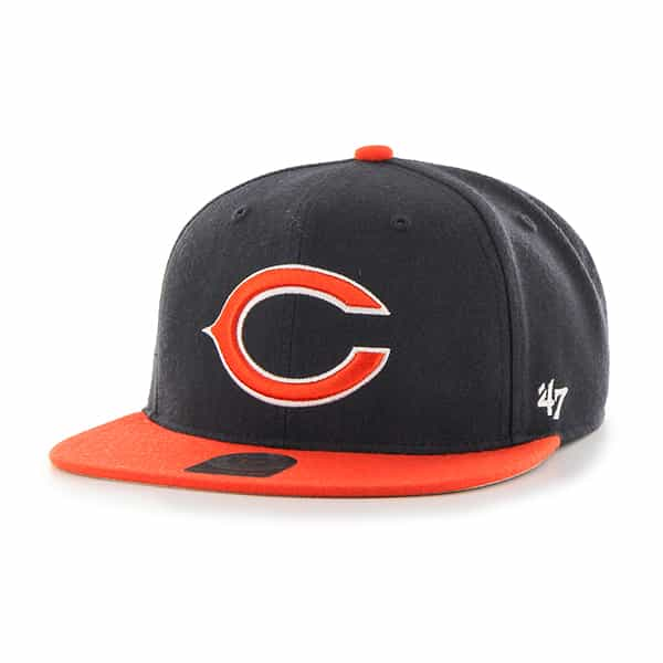 Chicago Bears Lil Shot Two Tone Captain Navy 47 Brand YOUTH Hat