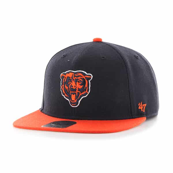 Chicago Bears Lil Shot Two Tone Captain Navy 47 Brand KID Hat