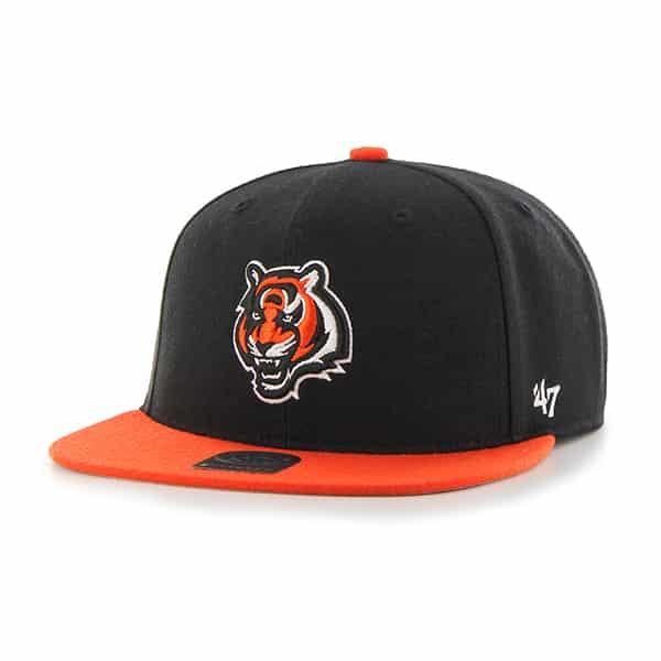 Cincinnati Bengals Lil Shot Two Tone Captain Black 47 Brand YOUTH Hat