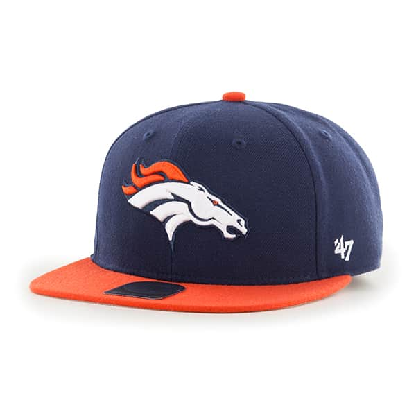 Denver Broncos Lil Shot Two Tone Captain Light Navy 47 Brand KID Hat