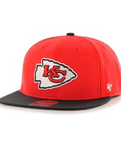 Kansas City Chiefs Lil Shot Two Tone Captain Torch Red 47 Brand YOUTH Hat