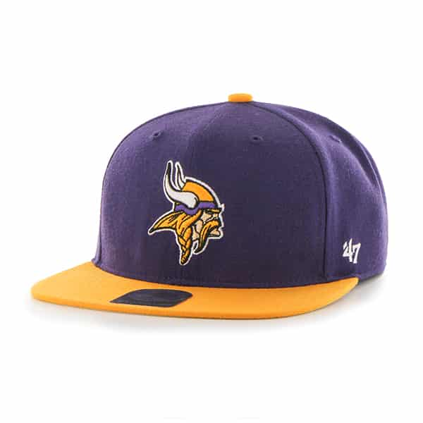 Minnesota Vikings Lil Shot Two Tone Captain Purple 47 Brand YOUTH Hat