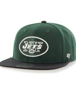 New York Jets Lil Shot Two Tone Captain Dark Green 47 Brand YOUTH Hat