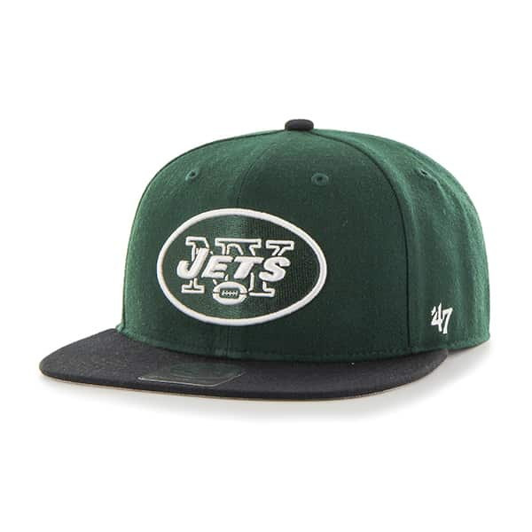 New York Jets Lil Shot Two Tone Captain Dark Green 47 Brand KID Hat