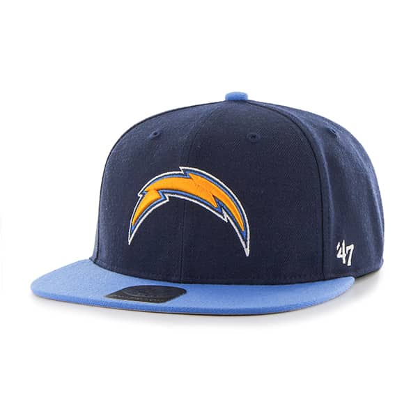 San Diego Chargers Lil Shot Two Tone Captain Light Navy 47 Brand YOUTH Hat