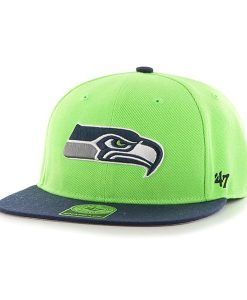 Seattle Seahawks Lil Shot Two Tone Captain Lime 47 Brand YOUTH Hat