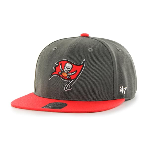 Tampa Bay Buccaneers Lil Shot Two Tone Captain Graphite 47 Brand YOUTH Hat