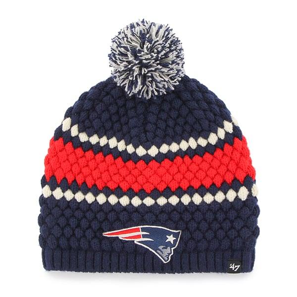 New England Patriots 47 Brand Women's Navy Leslie Beanie Hat