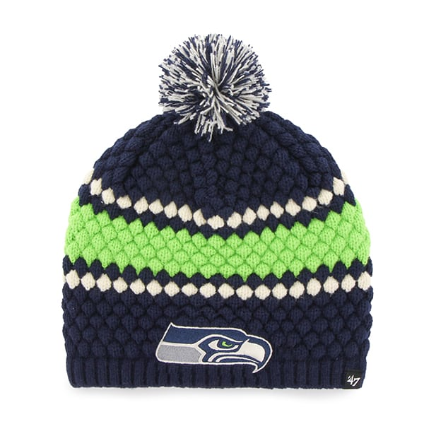Seattle Seahawks Leslie Beanie Light Navy 47 Brand Womens Hat