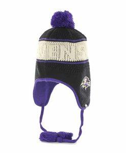 Baltimore Ravens Malory Knit Black 47 Brand Womens Hat
