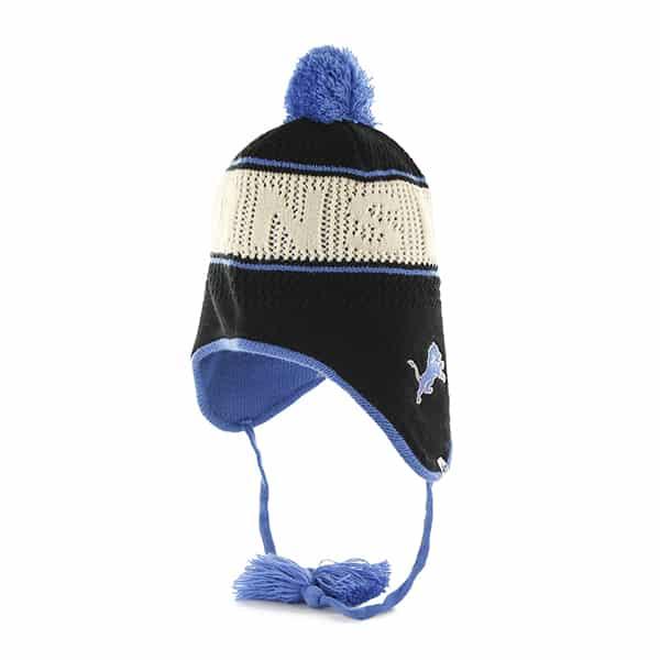Detroit Lions Malory Knit Black 47 Brand Womens Hat