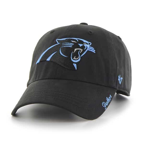 Carolina Panthers Miata Clean Up Black 47 Brand Womens Hat