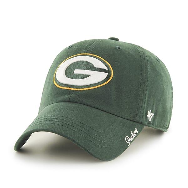 Green Bay Packers Miata Clean Up Dark Green 47 Brand Womens Hat