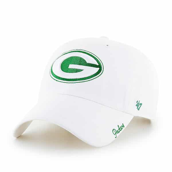Green Bay Packers Women's 47 Brand White Miata Clean Up Hat