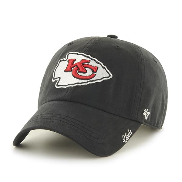 Kansas City Chiefs Miata Clean Up Black 47 Brand Womens Hat