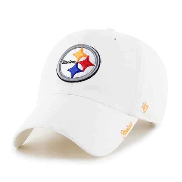 Pittsburgh Steelers Miata Clean Up White 47 Brand Womens Hat