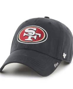 San Francisco 49ers Miata Clean Up Black 47 Brand Womens Hat