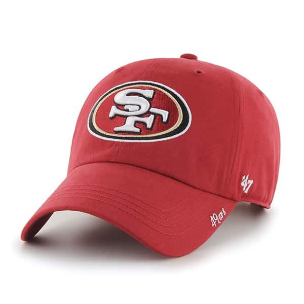 brand new 17fce e25b2 San Francisco 49ers Miata Clean Up Red 47 Brand Womens Hat - Detroit Game  Gear