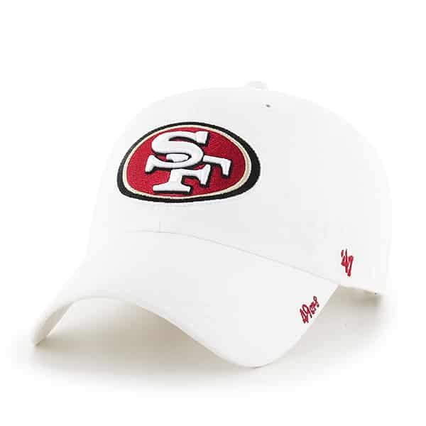 San Francisco 49ers Miata Clean Up White 47 Brand Womens Hat
